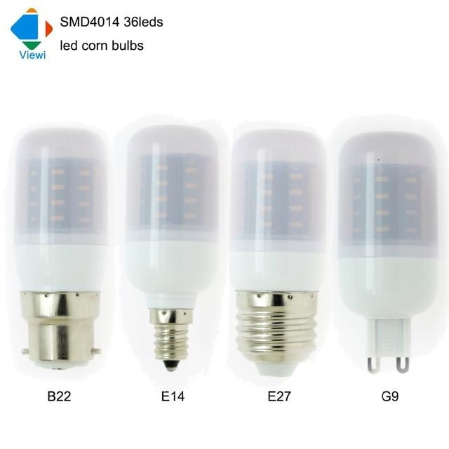 5X Ampoule Led E27 E14 E12 B22 G9 Corn Bulb Smd4014 36leds Super Bright 360  Degree