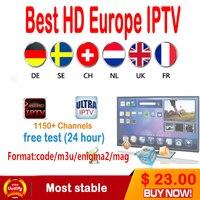 1 Année Européenne IPTV abonnement 1800 + Suède Arabe Français Belgique Italie Allemagne ROYAUME-UNI CA tv canaux pour Android Boîte/M3U/Enigma2