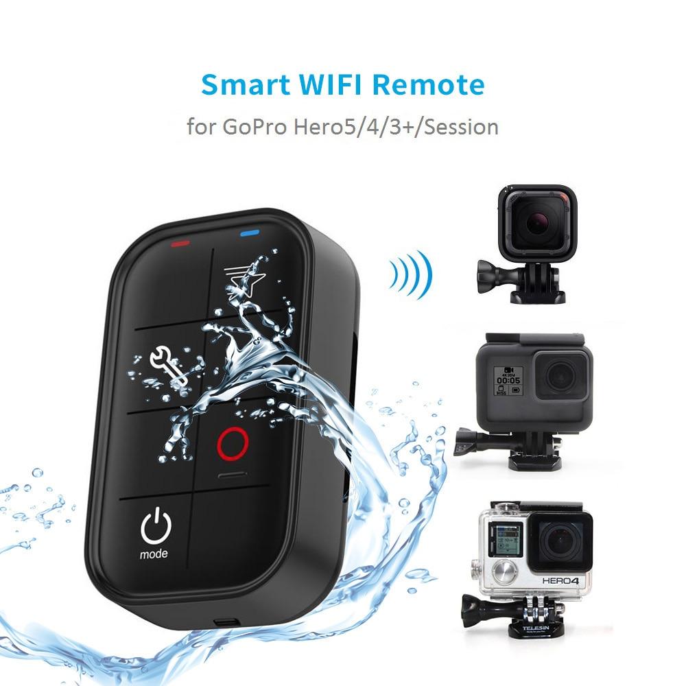 TELESIN 1 M étanche Smart WIFI télécommande Set contrôleur câble de charge pour GoPro Hero 7 6 5 4 Session Hero 3 + accessoires