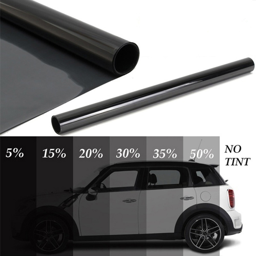 1.52m x 30m Wholesale Car Window Tint Film Glass VLT 20% Roll 2 PLY Car Auto House Commercial Solar Protection Summer Insulation