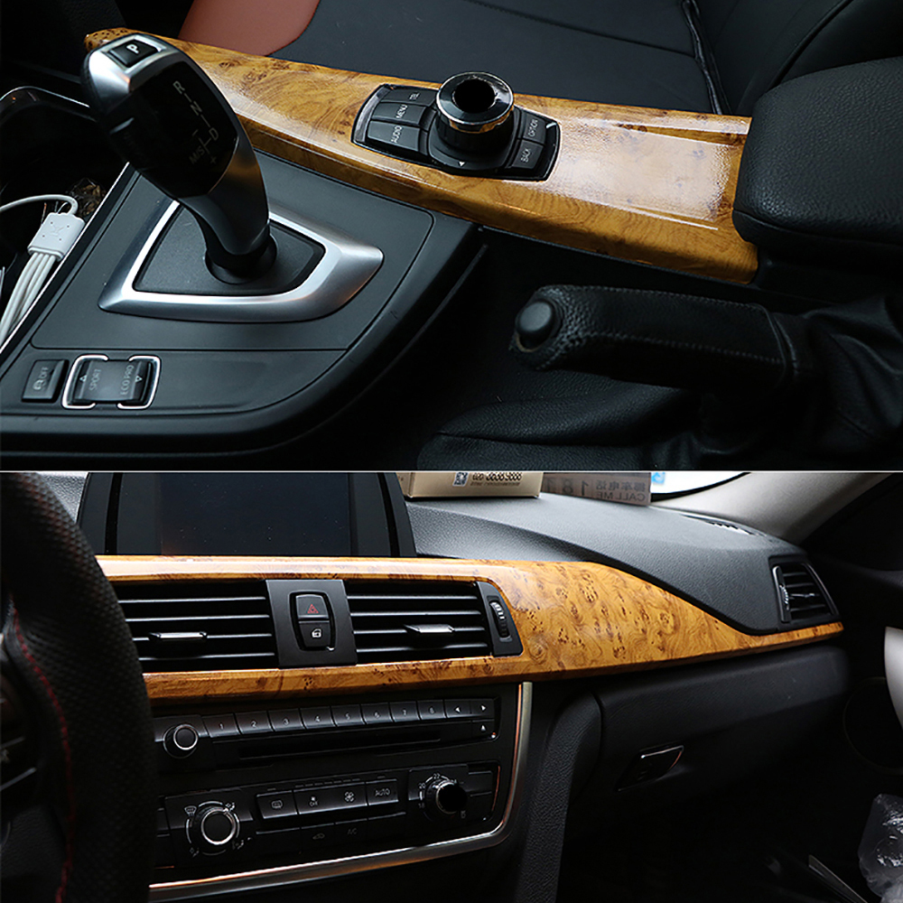 Image 4 - 10*100cm Glossy Wood Grain Pvc Vinyl Film Car Internal Decoration Sticker Wrap Waterproof Wood Grain Textured Decal Car Styling-in Car Stickers from Automobiles & Motorcycles