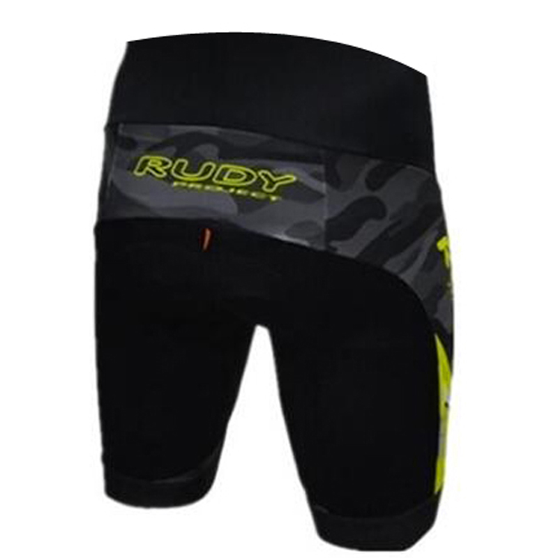 Rudy Brand Flour Yellow Pro Cycling Shorts Men 3D Anti Slip Padded Gel Cycling MTB Bike Shorts Mountain Bicycle Short Pants