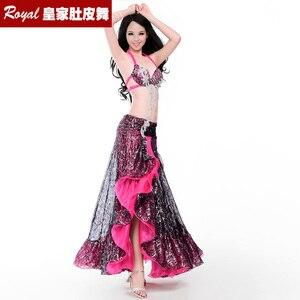 Image 2 - Hot top grade belly dance suit womens belly dance costume fashion belly dance wear clothes belly dancing BRA skirt 8711 Yasmin