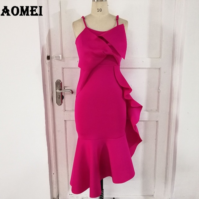 Women Tube Bodycon Backless Dress Ruffled Sexy Hot Party Nightout Evening Tight Club Wear Clothes Robe Femme Summer Fashion 2019