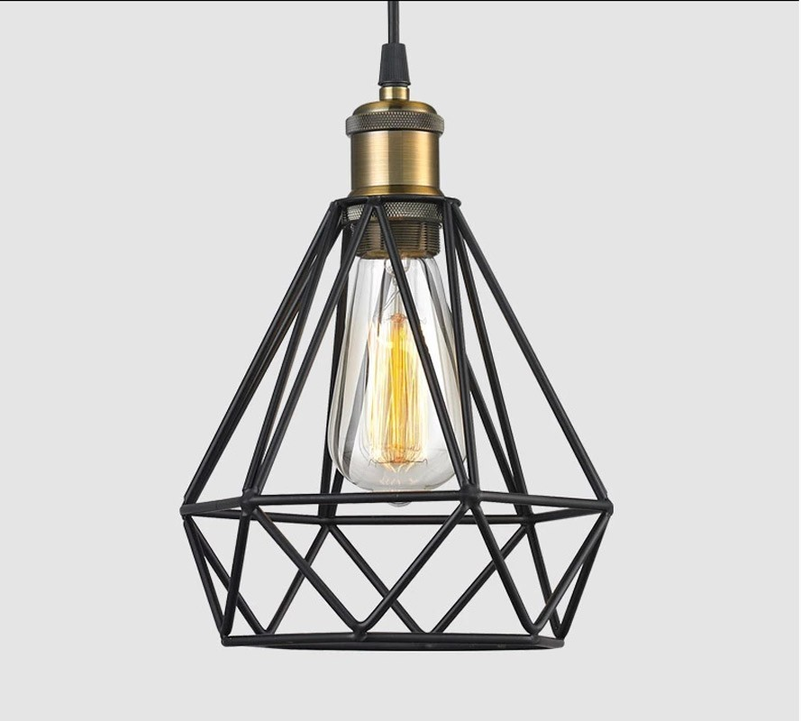aliexpress com   buy diamond sharp black retro edison vintage edison cage lights  wire lamp cage