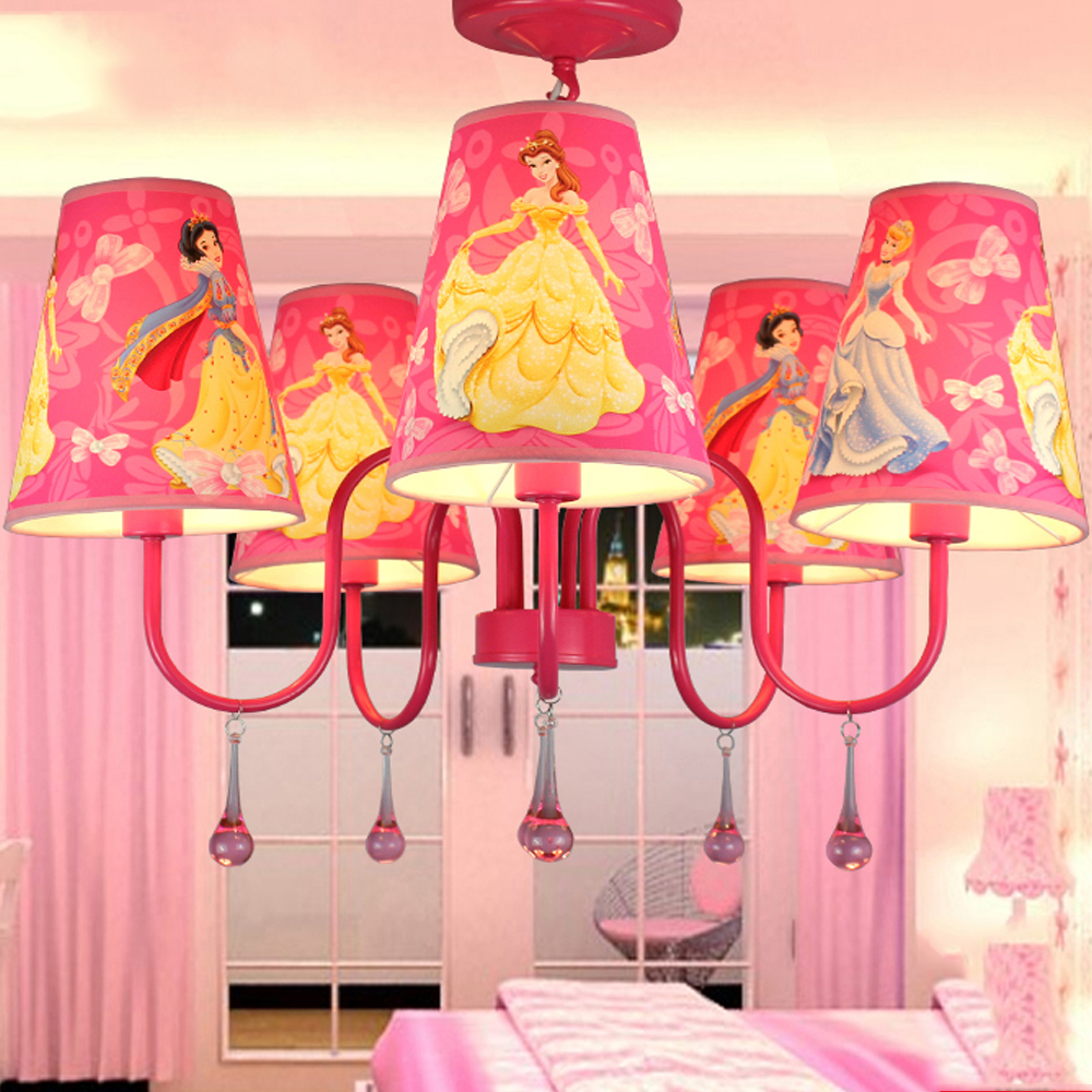 Cartoon Led Chandelier Ceiling 110V-220V Modern Crystal Chandelier with Shade Modern Lighting Fixture Kids Room Ceiling Lamp купить