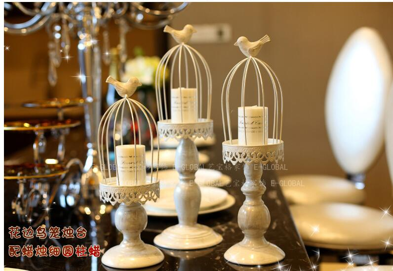 European ideas of carve patterns or designs on woodwork cage candlelight dinner furnishing articles in Candle Holders from Home Garden