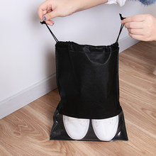 1PC Waterproof Shoes Storage Bag Pouch Portable Travel Organizer Drawstring Bag Cover Non-Woven Laundry Pouch Home Tool(China)