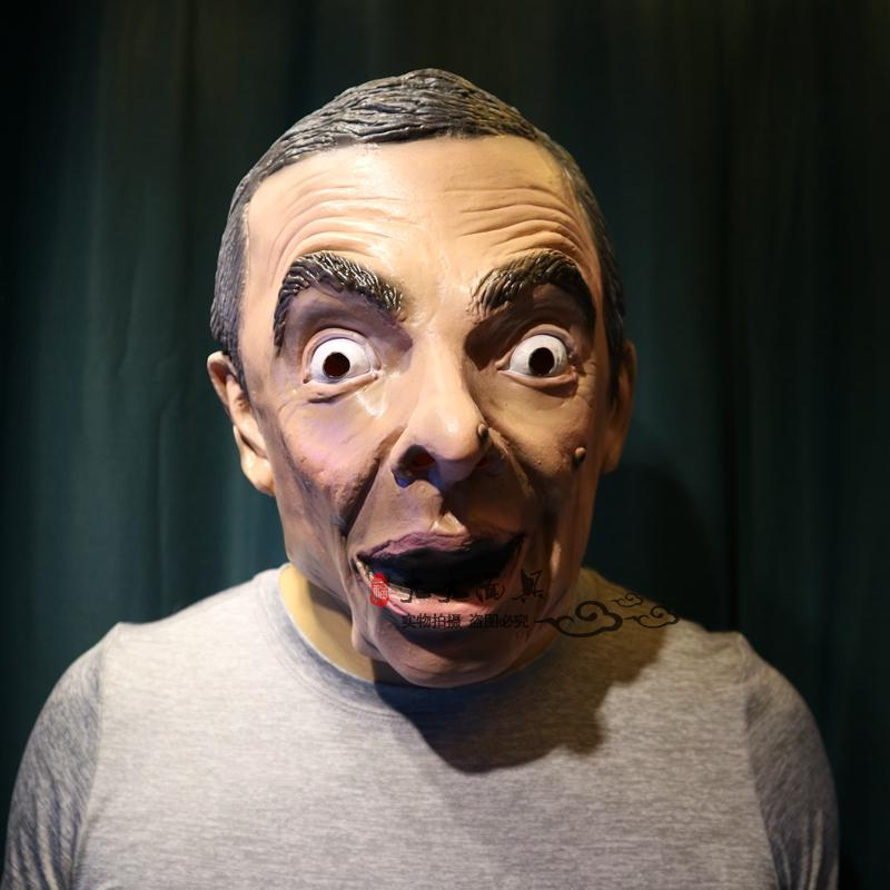 New Cosplay Funny Cos Mr Bean Latex Mask For Halloween Costume Party