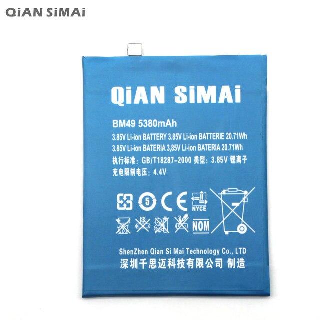 QiAN SiMAi High Quality BM49 Battery For xiaomi mi max Mobile phone + Tracking Code