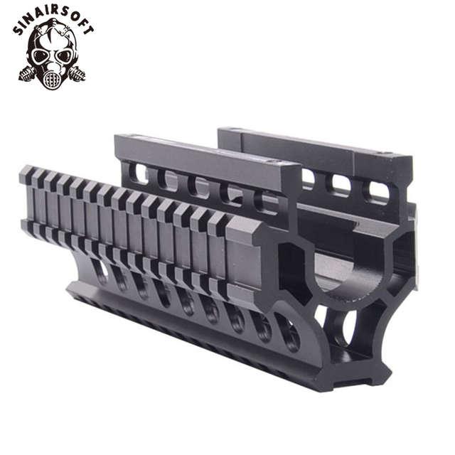 US $26 39 20% OFF|AK 47/74 Tactical Quad Rails Handguard Rail With 6pcs  Covers Hunting Shooting Tactical RIS Quad Rail AMD 65 Quad Rail System-in