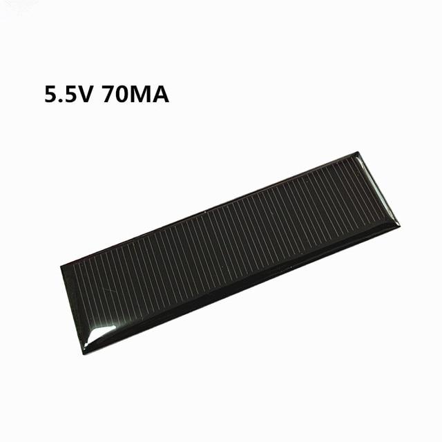 Toda la venta Min panel Solar 0,5 V 1V 2V 3V 4V 5V 80MA 100MA 120MA 130MA 160MA célula Solar para diy Solar cargador