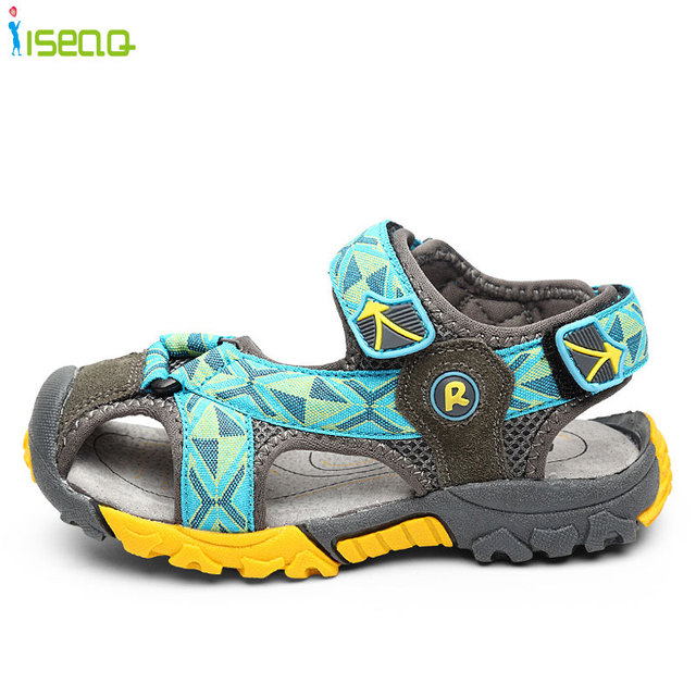 Летний новый стиль Дети мальчики сандалии обувь мальчиков моды вырезы сандалии дети холст дождь сандалии дышащий ботинок квартир