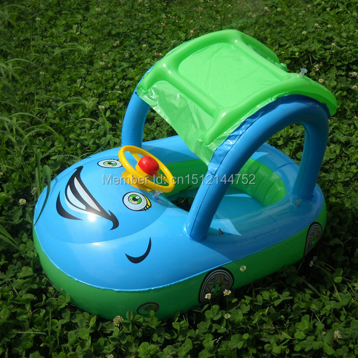 2 colors l 85x61x55cm car steering wheel cute design thicken safety pvc inflatable swimming ring baby