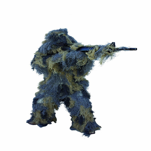 1.2M Airsoft Hunting Blind Ropes Camouflage Ghillie Suit Accessories Elastic Synthetic Fiber Mlitary CS Hunting Blind Gun Wraps 2