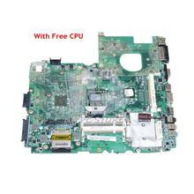 Nokotion 노트북 마더 보드 acer aspire 6530 6530g 메인 보드 mbaur06001 da0zk3mb6f0 ddr2 그래픽 슬롯이있는 무료 cpu