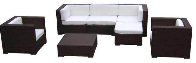 2015 Luxus Wohnzimmer Outdoor Wicker Sofa Sectional 7 Stck Couch SetChina Mainland