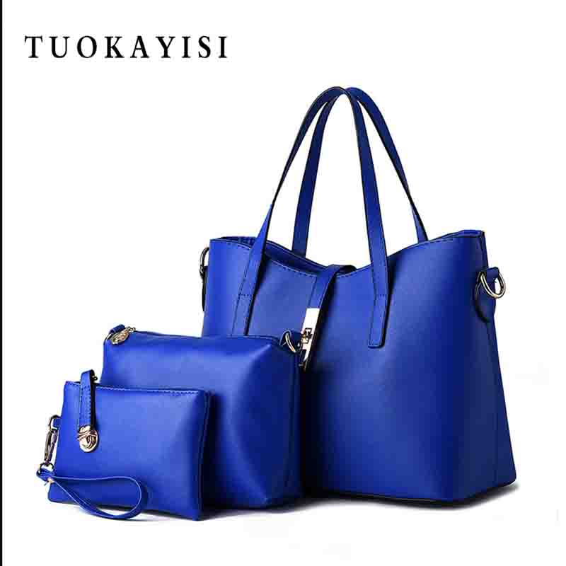 3piece set Genuine Leather Bags Ladies Shopper Messenger Bag Designer Real Cow Female Tote High Quality Shoulder Bags For Women oln brand designer women s shoulder bag genuine leather handbags for female real cow women messenger bags ladies tote bags