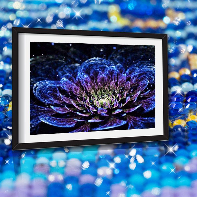 Colorful Flowers new arrival large DIY Crystal full drill square 5D diamond painting 3d cross stitch