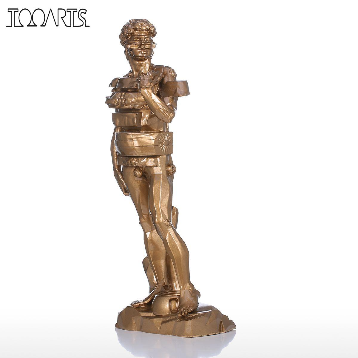 US $63 98 35% OFF Tooarts Sculpture David with Drawer Resin Sculpture Home  Decor Modern Art Figurine Home Ornament-in Statues & Sculptures from Home &