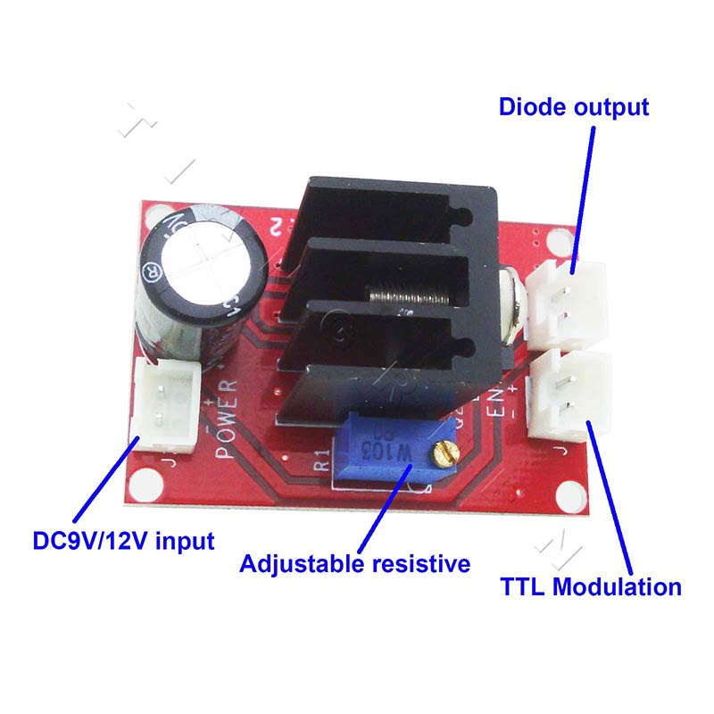TTL driver board for 100mw-2W 450nm/445nm Blue Laser Tube ,laser driver board цена