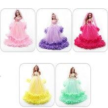 цены на 40cm Wedding dress princess dolls toys evening party dress long skirt veil wedding clothes for doll accessories girl gift  в интернет-магазинах