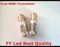 משלוח חינם על מכירה! 2 יח'\חבילה 80 W Canbus 1156 BA15S P21W S25 700LMS כתום/צהוב/אמבר LED לילל אור היפוך גיבוי DRL
