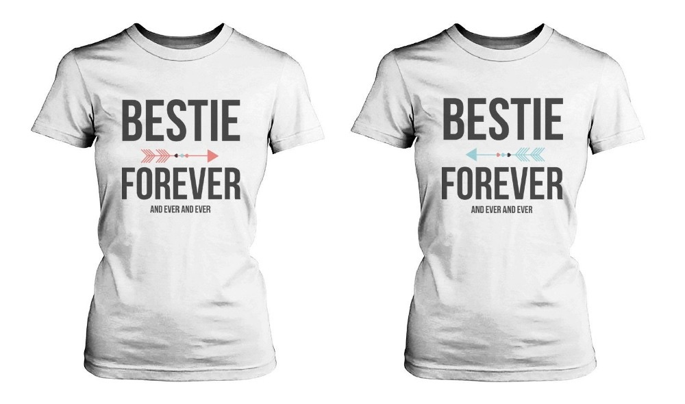 best friend matching shirts bestie forever and ever t shirts for bff men and women summer t. Black Bedroom Furniture Sets. Home Design Ideas