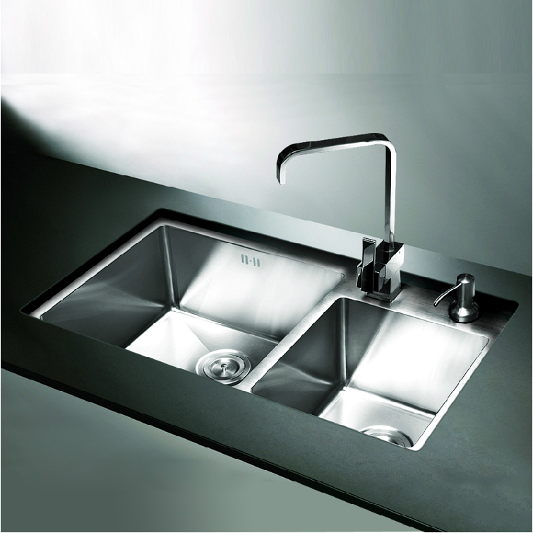 Discount Kitchen Sinks: 2017 New Design 304 Stainless Steel Kitchen Sink Double