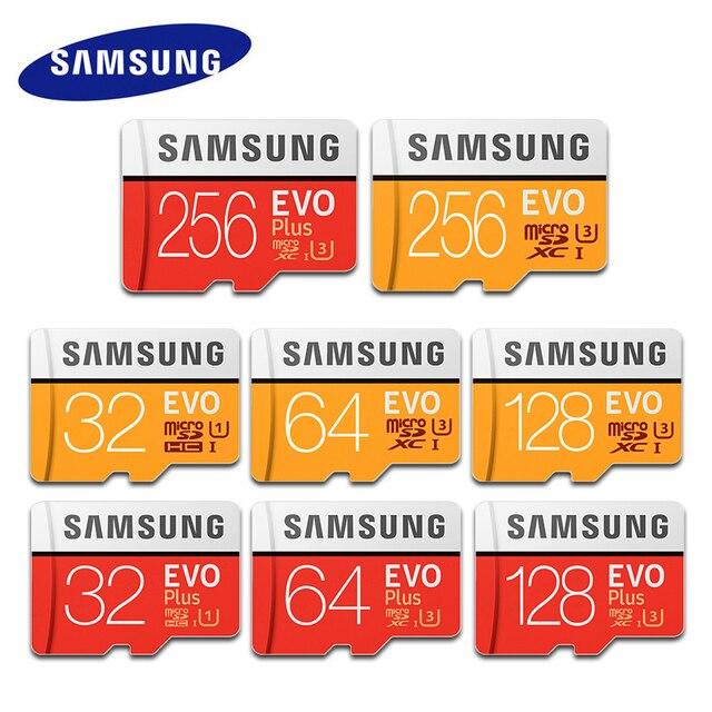 100% Original SAMSUNG EVO cartão Micro SD Cartão de Memória gb u3 64 Plus 64 gb 128 gb gb Class10 32 c10 100 mb/s Cartão TF MICROSDXC UHS-1