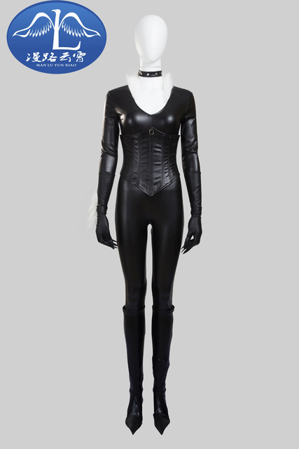 f6da5d31d29 Sexy Tight Jumpsuit Black Cat Felicia Hardy Cosplay Costume The Amazing  Spider-Man Black Outfit Customize PU