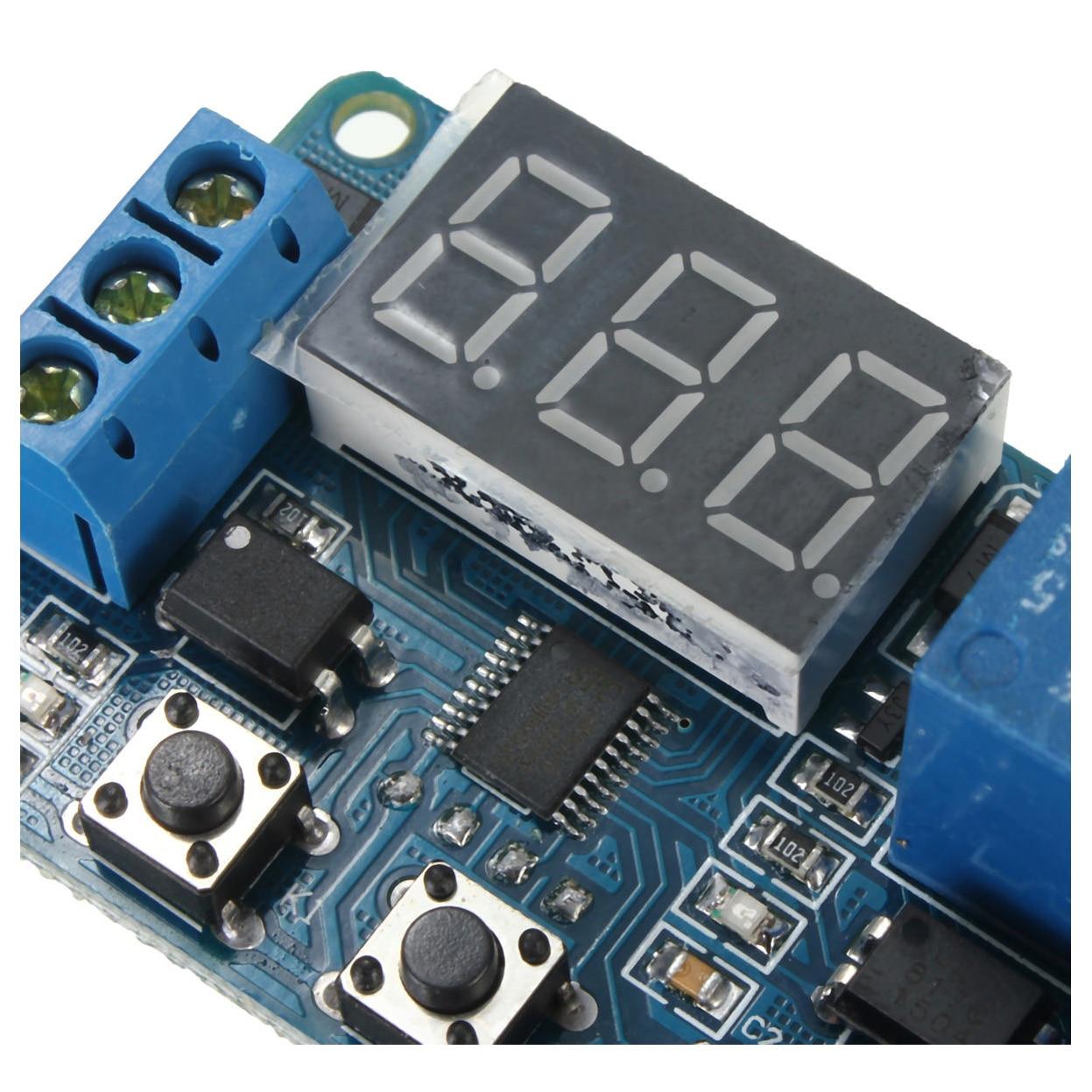 JFBL 2X Automation DC 12V LED Display Digital Delay Timer Control Switch Relay Module jfbl 2x capacimetro digitale tester capacita misuratore 5 cifre
