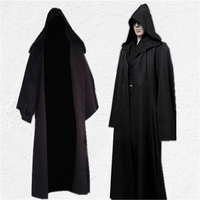Star Wars Jedi Knight Anakin Skywalker Cloak Cosplay Costumes For Men Adult Halloween Hooded Cape Cloak Robe Halloween Costume