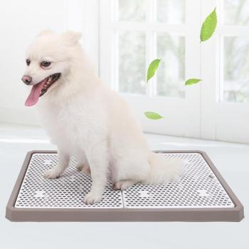 2019NEW Lattice Dog Toilet Potty Pet Toilet For Dogs Cat Puppy Litter Tray Training Toilet Easy To Clean Pet Product 44x36x3.3cm 1