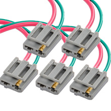 5pcs/set wholesale hei distributor wire harness pigtail dual 12v power tach  connector fit for gm for gmc