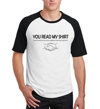 men summer fashion tops 2017 new fitness cotton brand clothing You Read My Shirt That's Enough Social Interaction raglan T-Shirt
