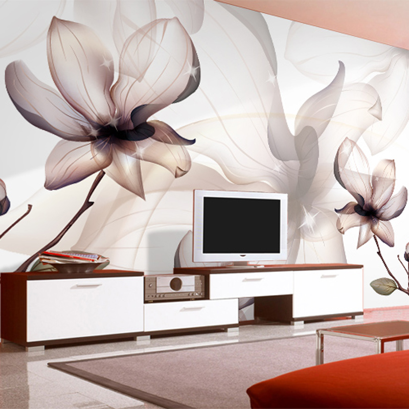 Custom 3D Photo Wallpaper Non-woven Magnolia Flower Large Wall Painting Bedroom Living Room TV Background Wall Murals Wallpaper