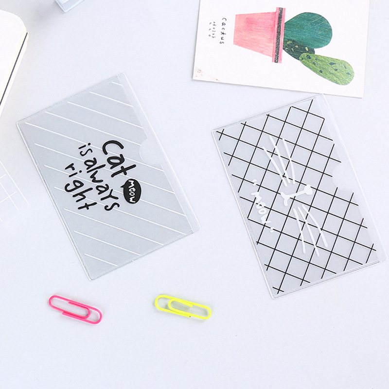 PACGOTH Creative Half Transparent PVC Card & ID Holders Kawaii Animal Prints Cute Cats Striped Bus Credit Card Holders 1 Piece 3d qubiclife london bus stereo card creative travel card