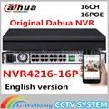 Portas nvr4216-16p suporta até 5mp dahua 16poe nvr 16ch gravação onvif network video recorder hdmi/vga 16 canal poe nvr