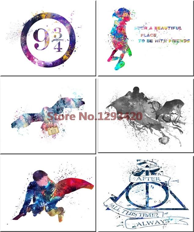 diy 5d diamond embroidery Harry Potter watercolor Diamond Mosaic Crystal Cross Stitch Needlework Diamond Painting Sticker Decor