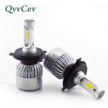 QvvCev H4 LED H7 H3 H1 LED Car Headlight Bulbs H11 H8 9006 HB4 HB3 COB 8000LM 6500K Auto Led Lamp Automobiles Light Car-styling
