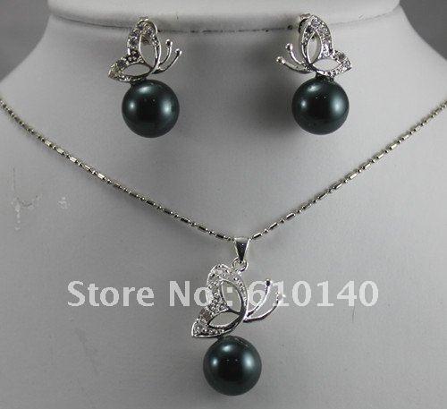 5 шт. форме бабочки оболочки серьги / ожерелье SSsZzDdd