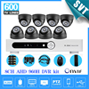 8ch Complete Video Surveillance System 8 Channel Vision Security Cameras System AHD 960H CCTV Dvr Nvr