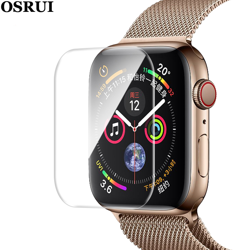 Protective Film For Apple Watch 38mm 42mm 40mm 44mm Iwatch Series 4 3 2 1 Protector The Soft Full Cover For Apple Watch Band (No