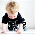 New Fashion hot selling Children Suit Autumn Baby boys girls Long sleeve Letter T-shirt+Black Trousers Newborn Baby Clothes