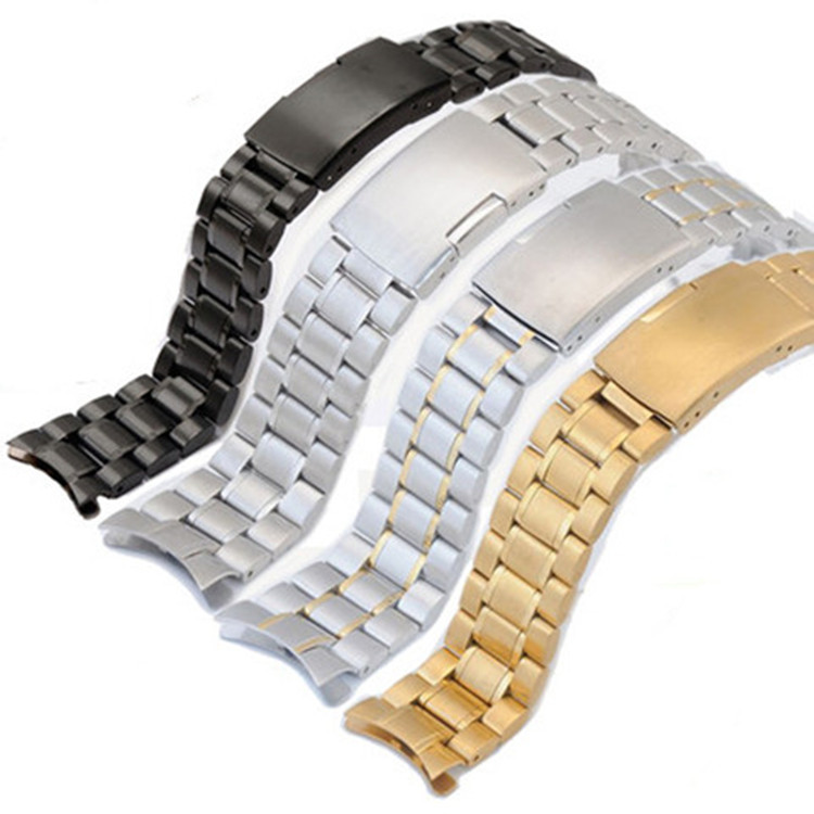 Five beads arc solid stainless steel strap fittings universal elbow watch chain