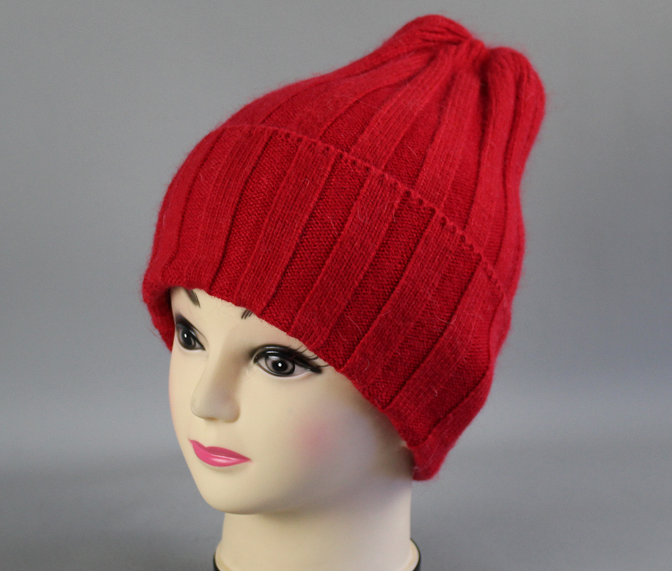 Thick Winter Hats For Women angora Beanies Hat knitted wool warm Beanie With Back Opening 2018 New (5)