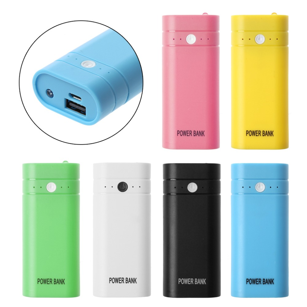 5600mAh Mini USB Port 2x 18650 Battery Charger Holder Power Bank Box Shell Case DIY Kit ouhaobin 5v 2 1a 2 usb 7x 18650 diy power station case kit diy 18650 battery charger box cases feb20