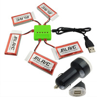 BLLRC 3 7V 1200mah Aircraft Lithium Battery With 5 In 1 Charger And 12V Car Charger