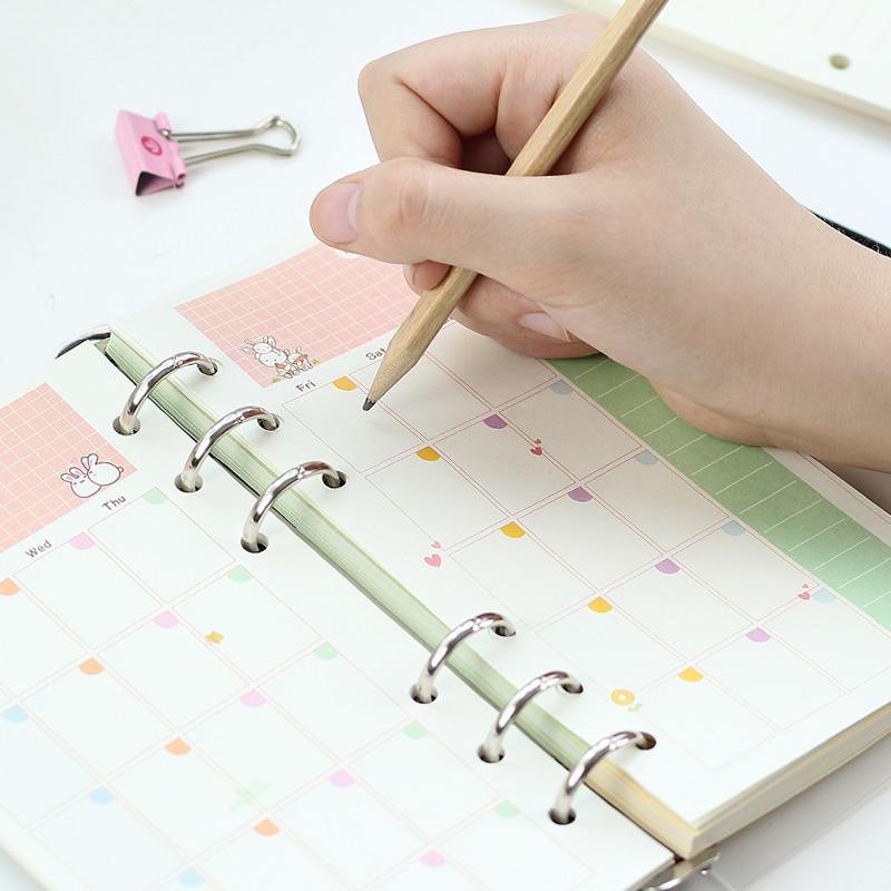 Mercii Diary vullingen A5 A6 spiraal notebook vervangen papier core 6 - Notitieblokken en schrijfblokken bedrukken - Foto 3